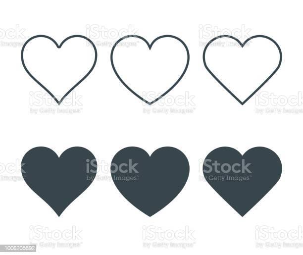 Neue Herz Symbole Konzept Der Liebe Festlegen Der Linearen Ikonen Mit Dünnen Linie Und Mit Dunklen Füllen Isoliert Auf Weißem Hintergrund Vektorillustration Stock Vektor Art und mehr Bilder von Abstrakt