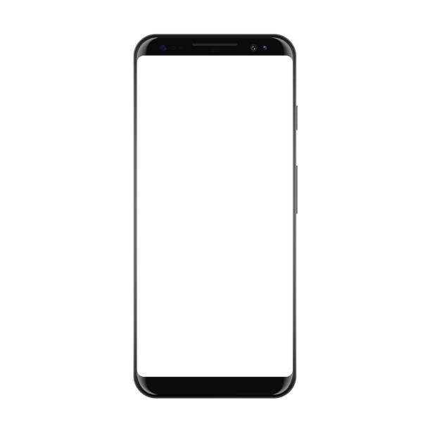 New High Detailed Realistic Smartphone Isolated on white Background. Display Front View. Frameless Device similar to galaxy s Mockup Separate Groups and Layers. Easily Editable Vector. EPS 10. New High Detailed Realistic Smartphone Isolated on white Background. Display Front View. Frameless Device similar to galaxy s Mockup Separate Groups and Layers. Easily Editable Vector. EPS 10. iphone stock illustrations