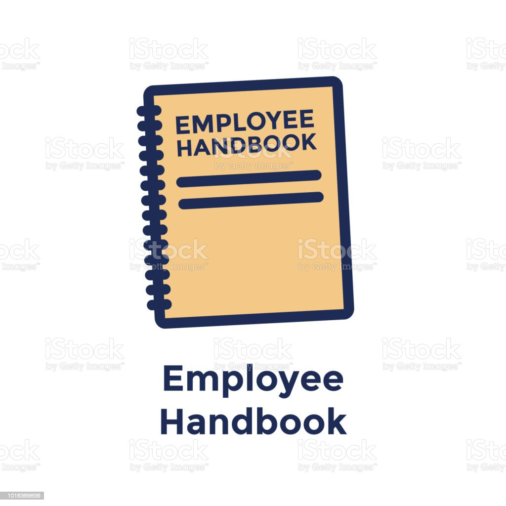 New Hire or new employee icon focusing on the employee handbook or manual