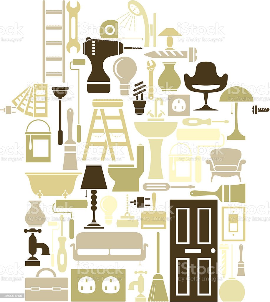 New Home vector art illustration