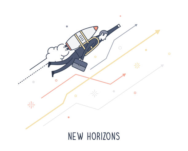 new horizons - gelegenheit grafiken stock-grafiken, -clipart, -cartoons und -symbole