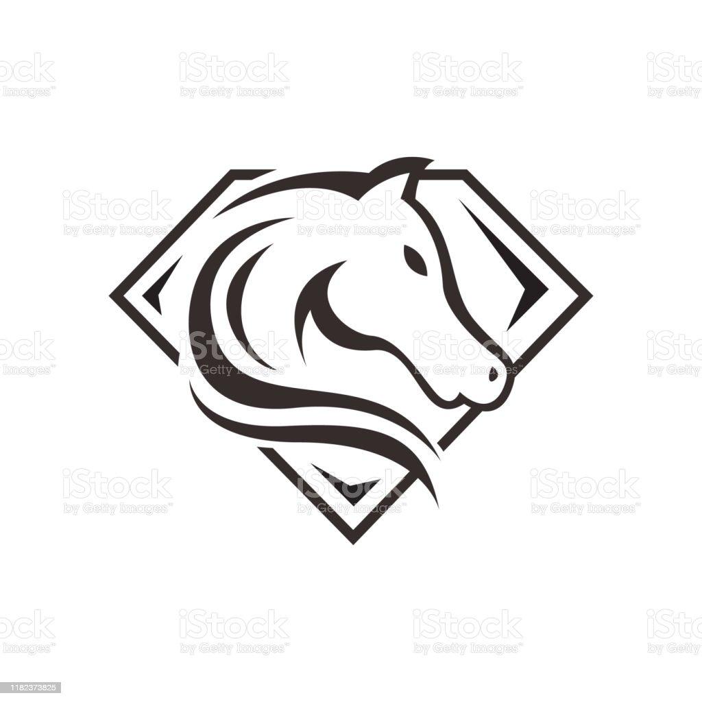 New Horse Head Logo Template Vector Illustration Design Stock Illustration Download Image Now Istock