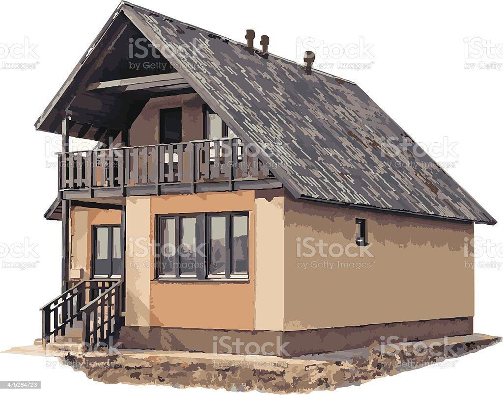 New house on white 2 (vector) royalty-free stock vector art