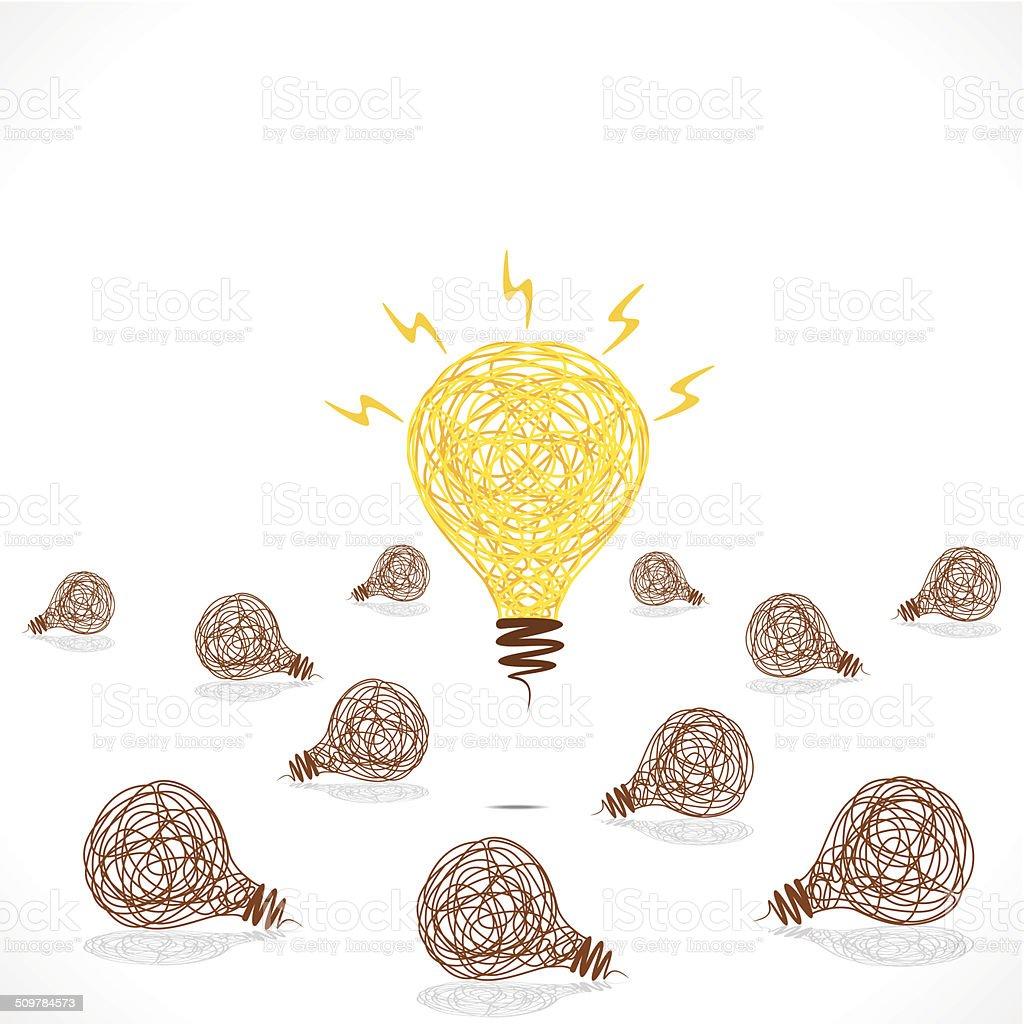 Neue Idee Konzept Glühbirne Lichtdesign Stock Vektor Art und mehr ...