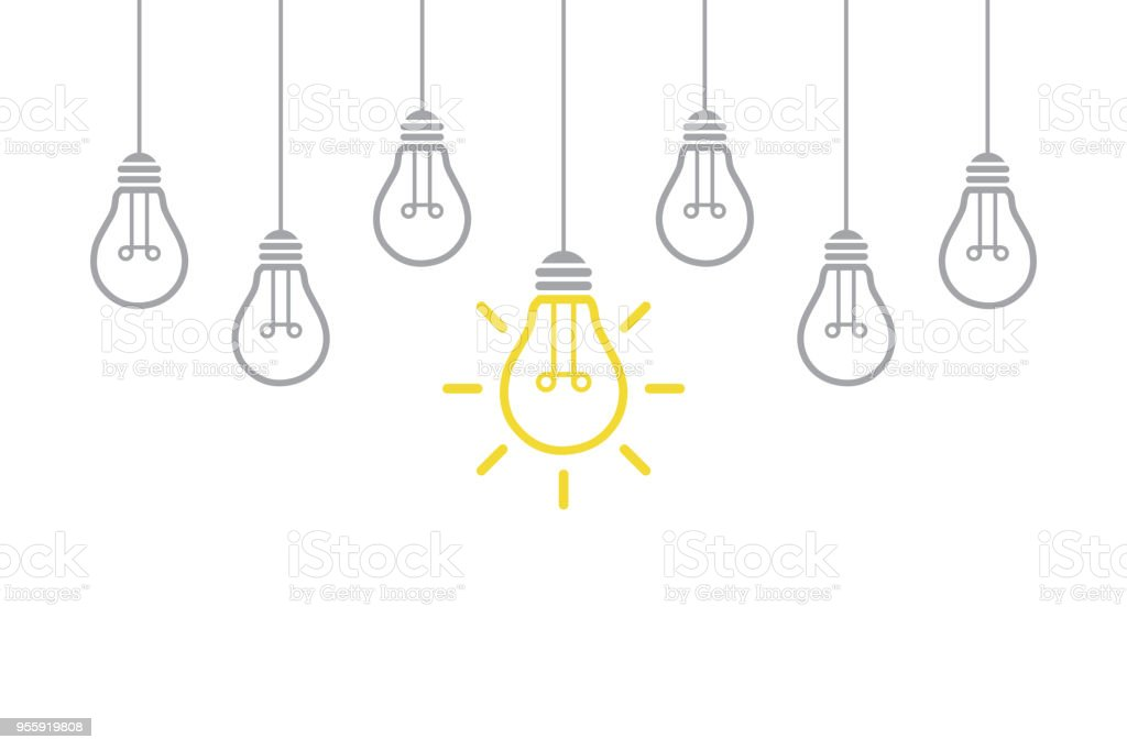 New Idea Concept with Light Bulb royalty-free new idea concept with light bulb stock illustration - download image now