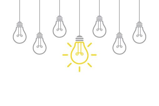 New Idea Concept with Light Bulb clipart