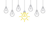 New Idea Concept with Light Bulb