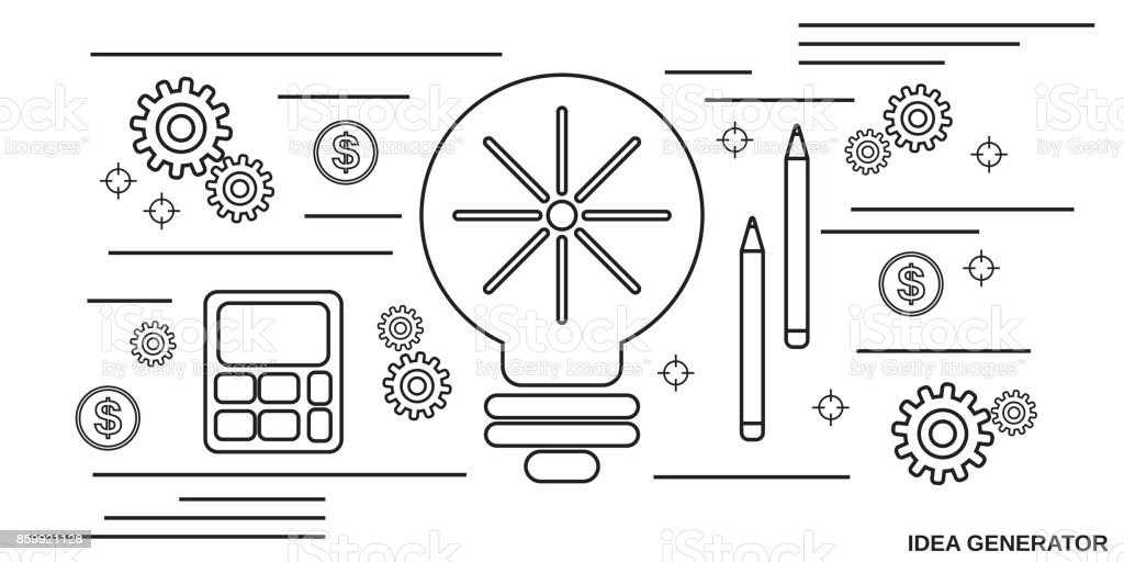 New Idea Generator Vector Concept Stock Illustration