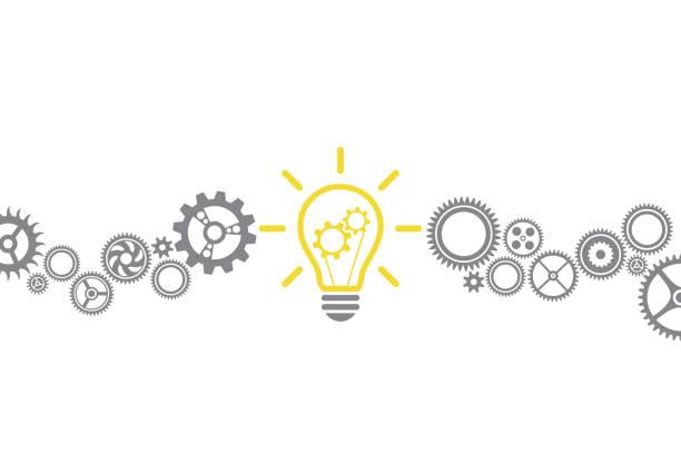 neue ideenlösung mit glühbirne - innovation stock-grafiken, -clipart, -cartoons und -symbole