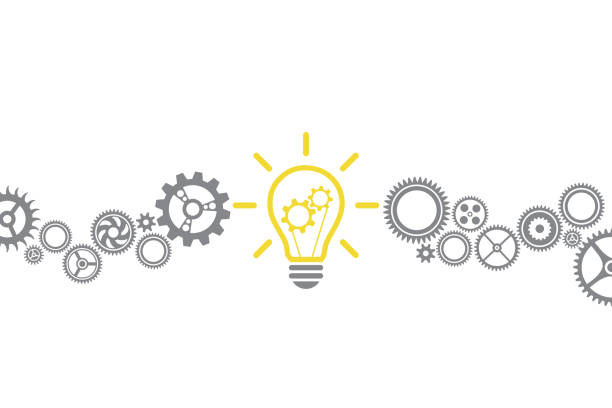 New Idea Solution Concepts with Light Bulb New Idea Solution Concepts with Light Bulb intellectual property stock illustrations