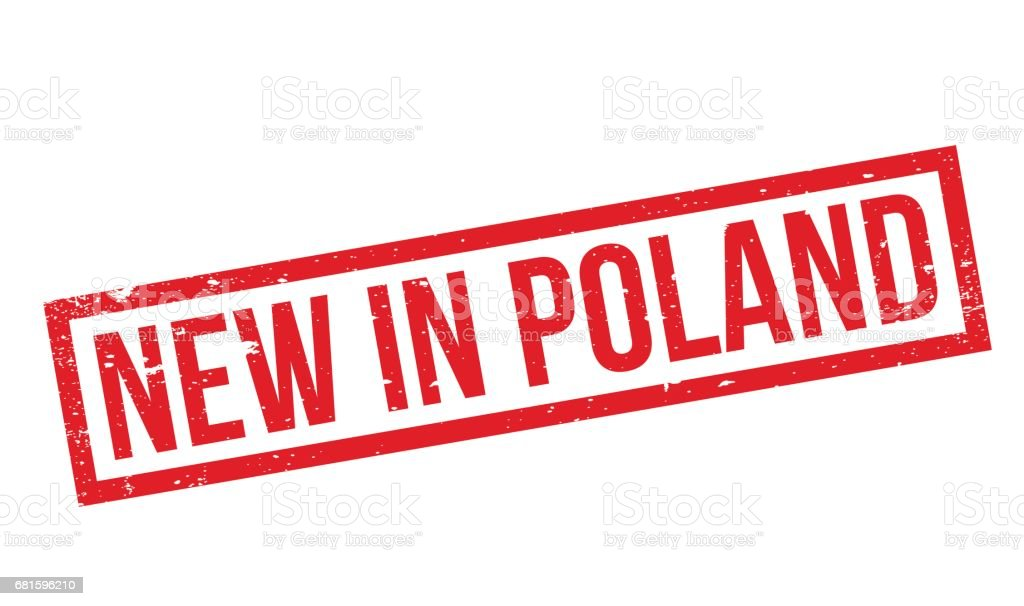 New In Poland rubber stamp vector art illustration