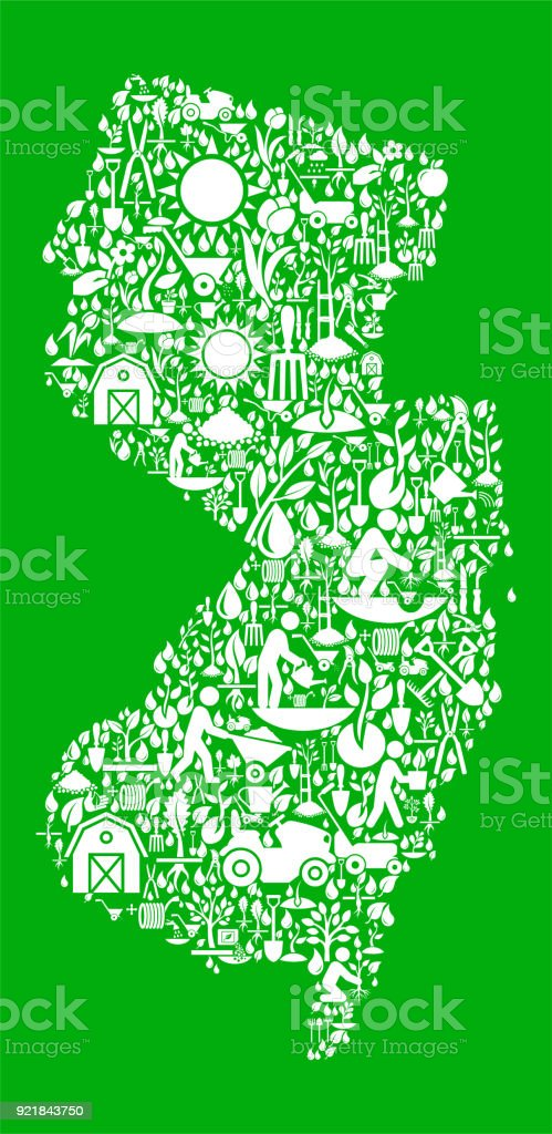 new jersey garden and gardening vector icon pattern royalty free new jersey garden and gardening - New Jersey Garden