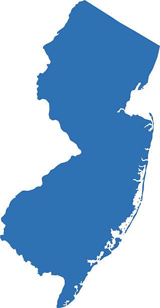 New Jersey mapy – artystyczna grafika wektorowa
