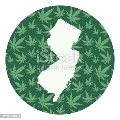 istock New Jersey Marijuana Leaves Round Map 1294333061