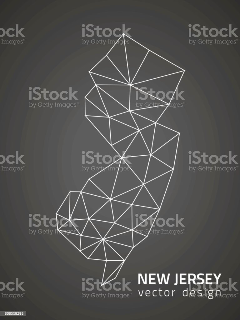 New Jersey outline vector map vector art illustration