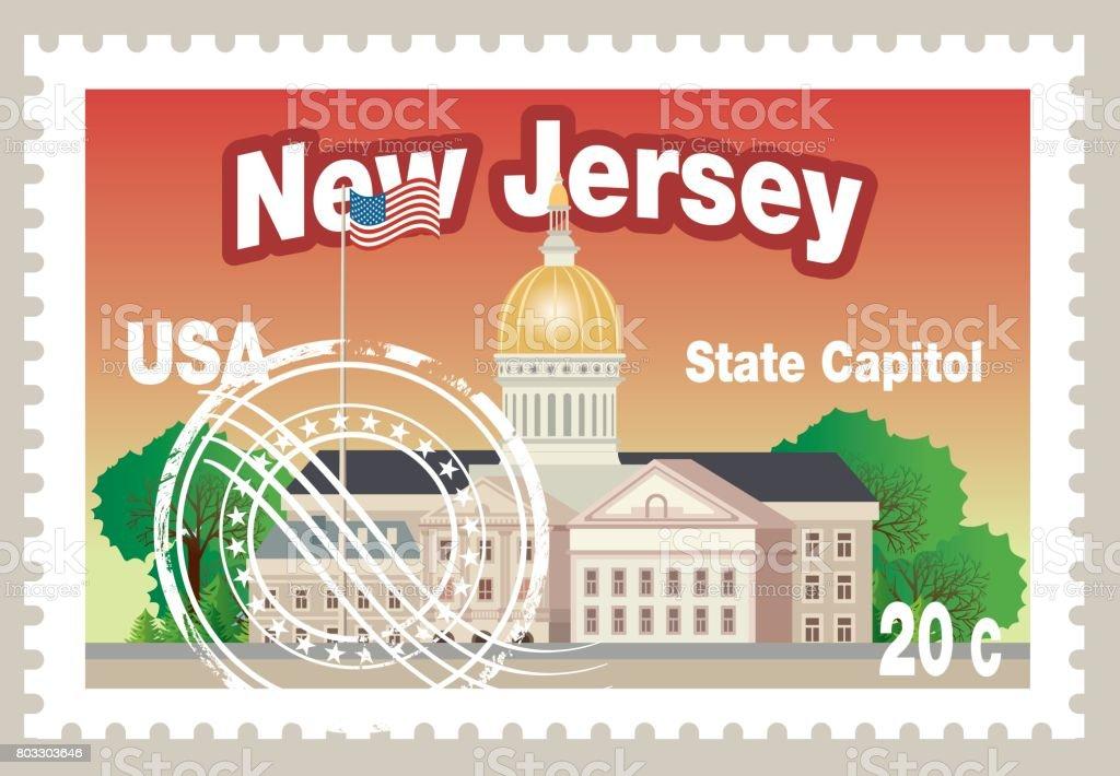 Yeni Jersey Eyaleti Meclis Binas Royalty Free Stok Vektr Sanat