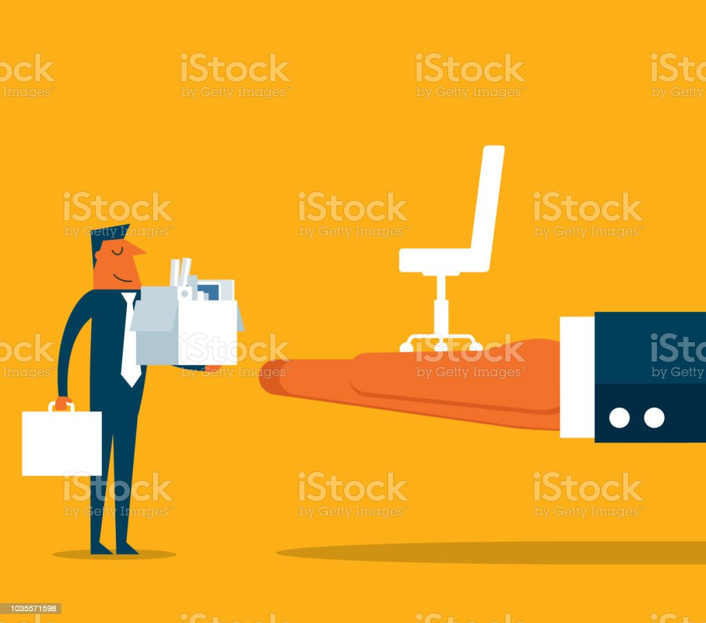 Neue Job - Geschäftsmann – Vektorgrafik