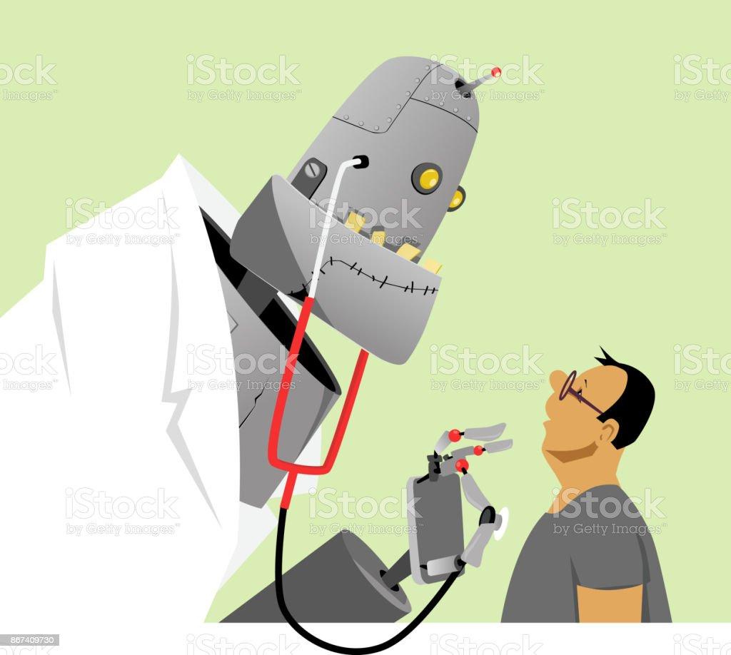New kind of doctor vector art illustration
