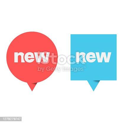 istock New Label Icon Vector Design. 1279279747