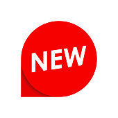 istock New label or tag. Circle promotion badge. Vector illustration. 1154987624