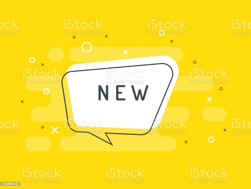 Nouvelle étiquette. Bulle de vecteur plat. nouvelle étiquette bulle de vecteur plat vecteurs libres de droits et plus d'images vectorielles de affaires finance et industrie libre de droits