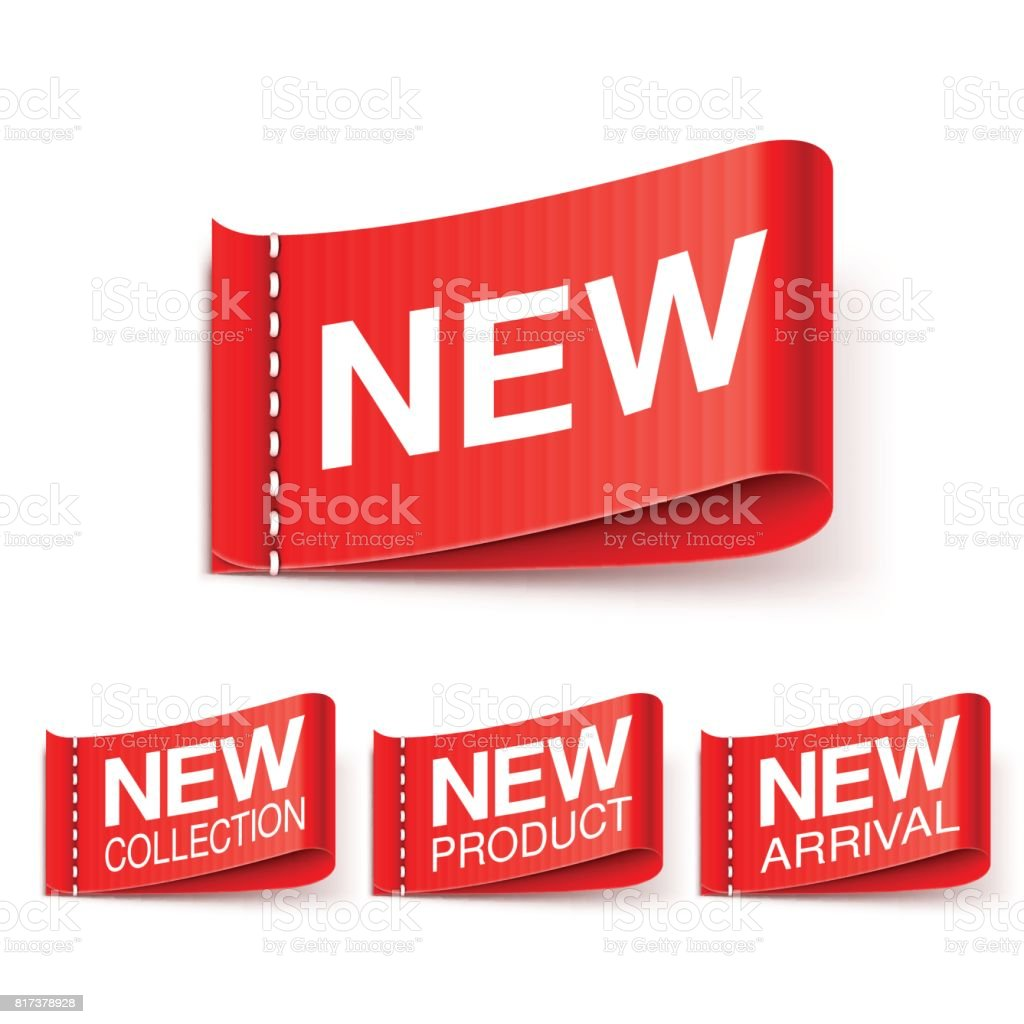 New Labels Collection vector art illustration
