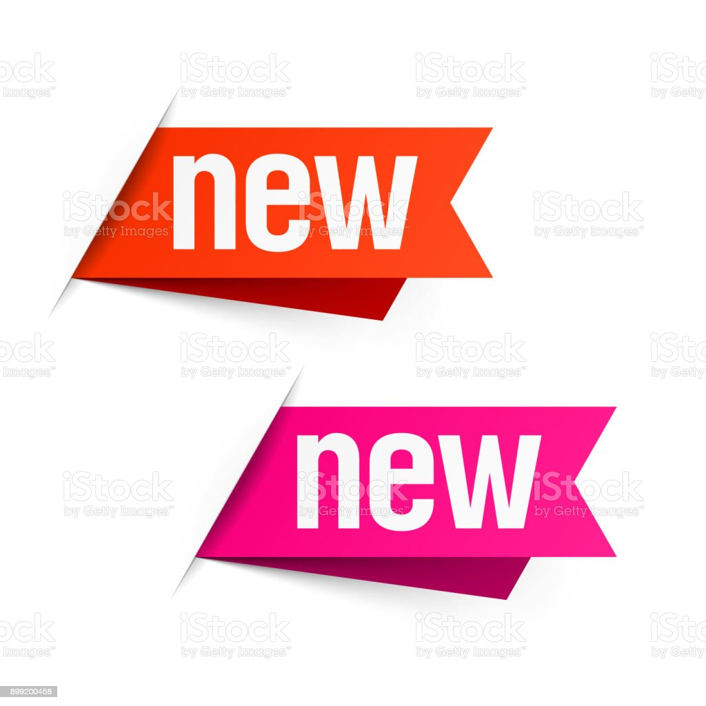 New labels vector art illustration