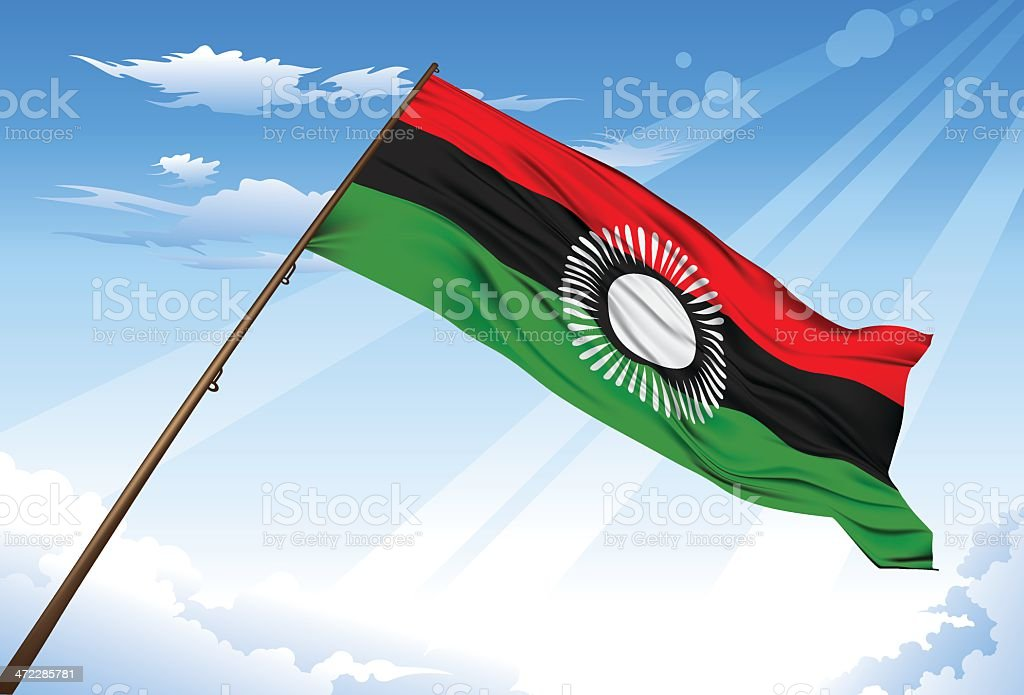 New Malawi Flag royalty-free new malawi flag stock vector art & more images of black color
