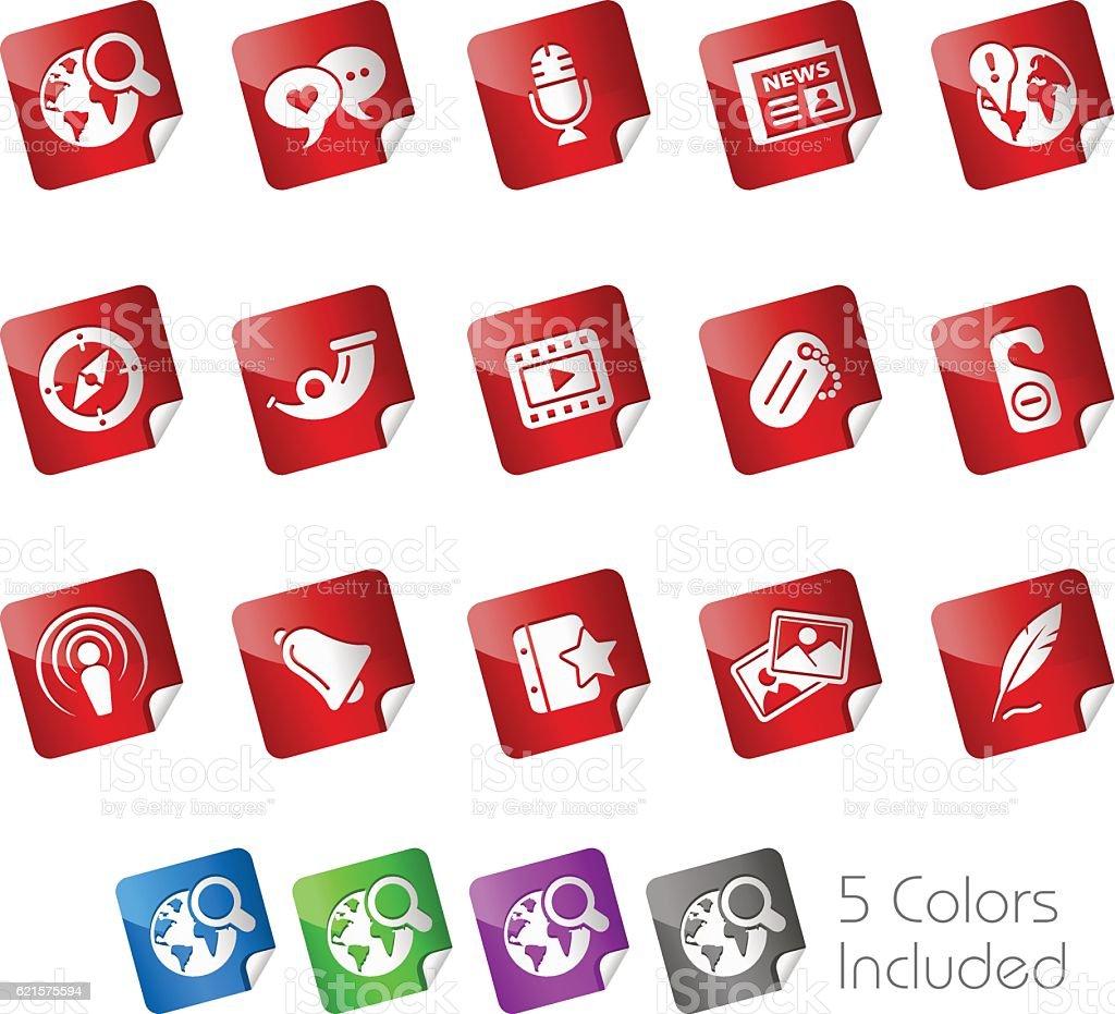 New Media // Stickers Series new media stickers series – cliparts vectoriels et plus d'images de album de photographies libre de droits