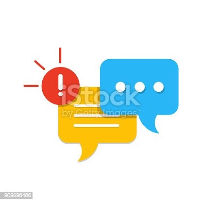 New Message, Dialog, Chat Speech Bubble Notification flat icon vector, eps 10