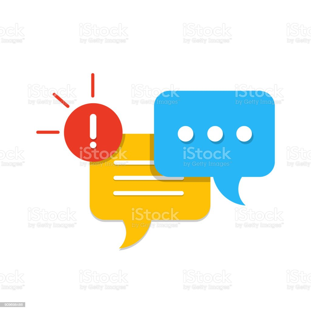 New Message, Dialog, Chat Speech Bubble Notification flat icon vector vector art illustration