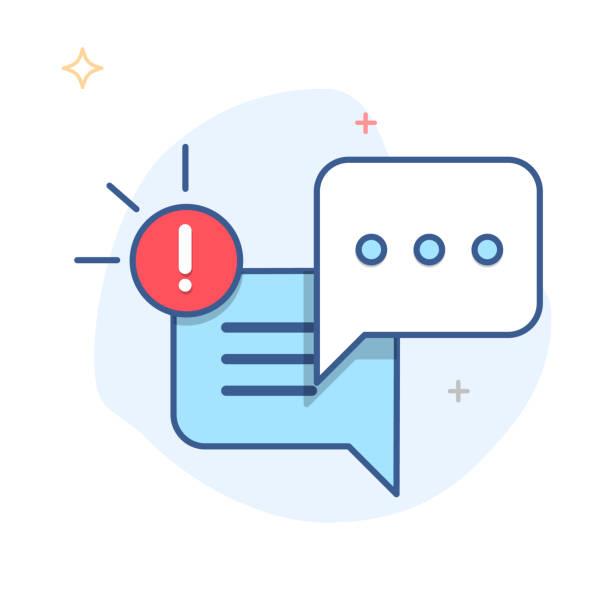 ilustrações, clipart, desenhos animados e ícones de nova mensagem, diálogo, vetor de ícone chat notificação de bolha do discurso - fontes de bolha