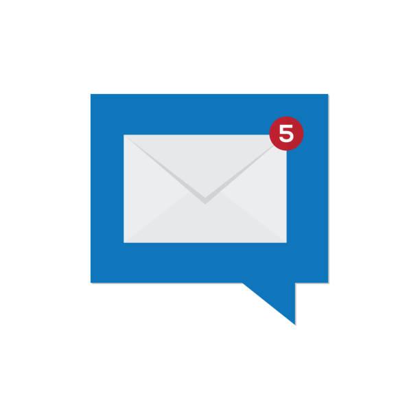 ilustrações, clipart, desenhos animados e ícones de notificação de nova mensagem - fontes de bolha