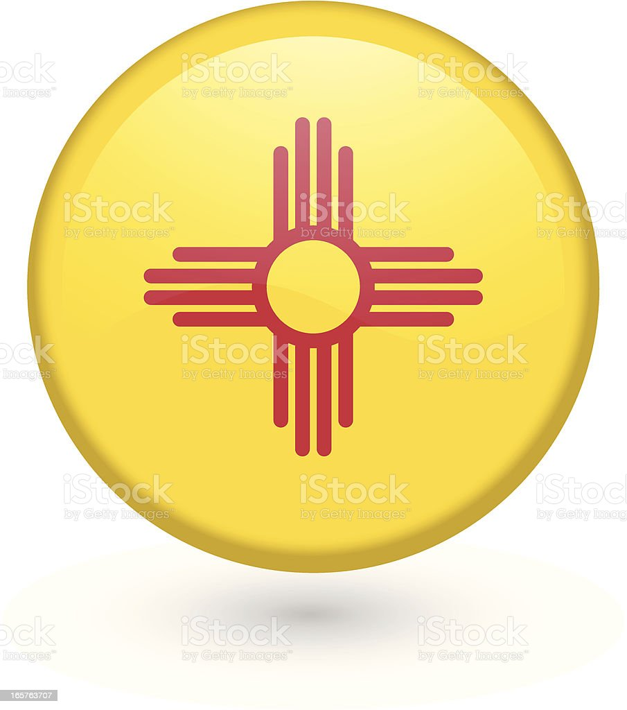 New Mexico flag button royalty-free new mexico flag button stock vector art & more images of badge