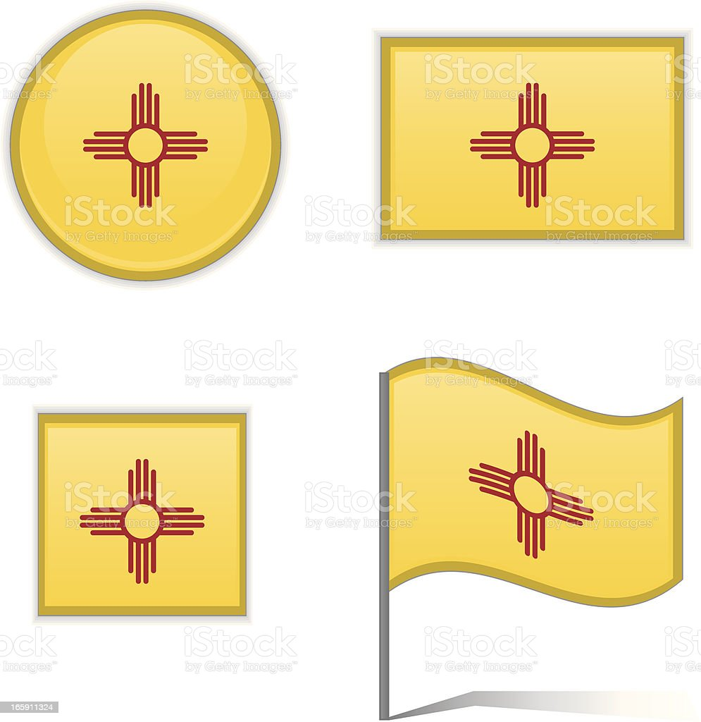 New Mexico flags royalty-free stock vector art