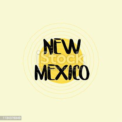 New Mexico Lettering Design