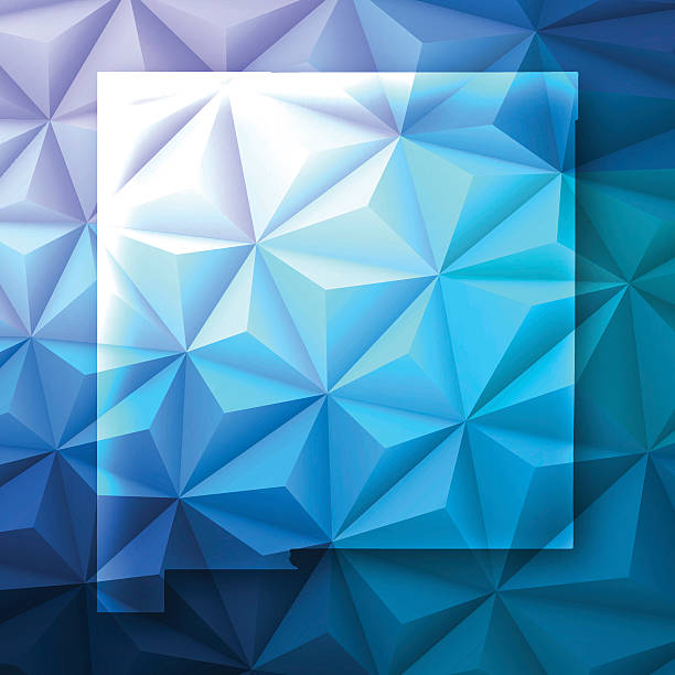New Mexico on Abstract Polygonal Background - Low Poly, Geometric vector art illustration