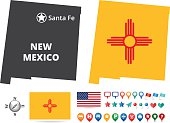 New Mexico State Map Kit