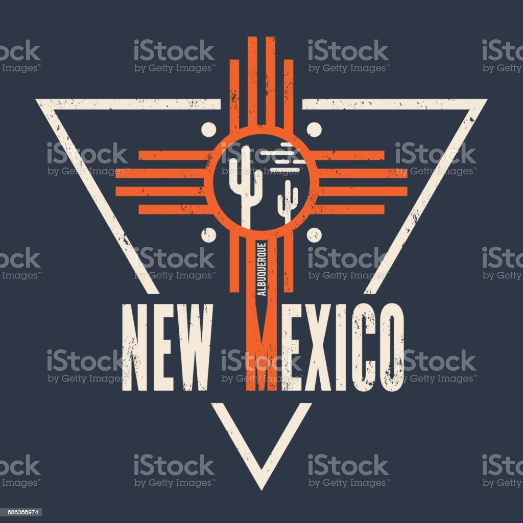New Mexico t-shirt design, print, typography, label. vector art illustration