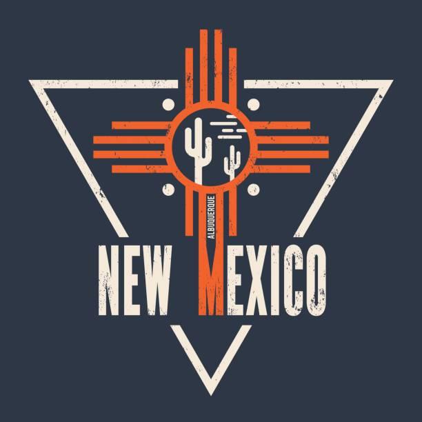 New Mexico t-shirt design, print, typography, label. vector art illustration