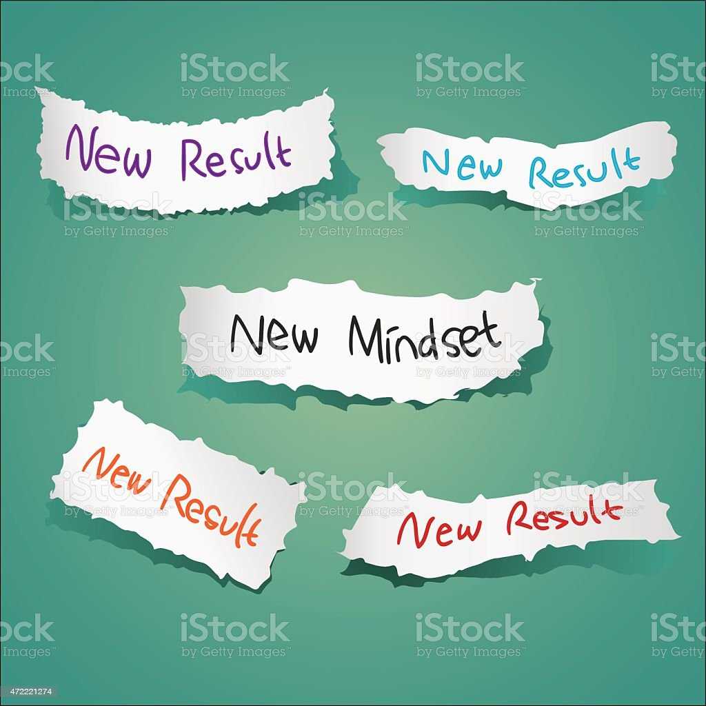 New Mindset New Results vector art illustration