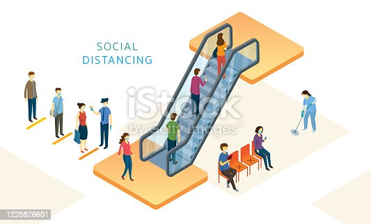 istock New Normal, People, Social Distancing in Mart and Store 1225826651