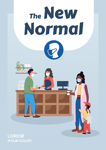 New normal poster flat vector template