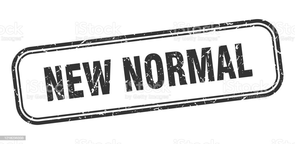 New Normal Stamp New Normal Square Grunge Black Sign Stock