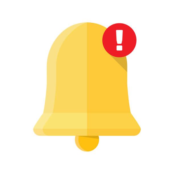 new notification icon. - reminder stock illustrations