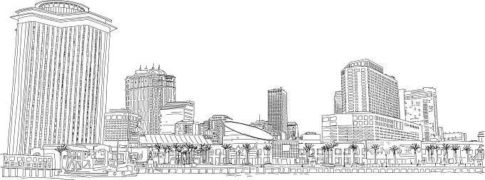 New Orleans City Skyline Illustration