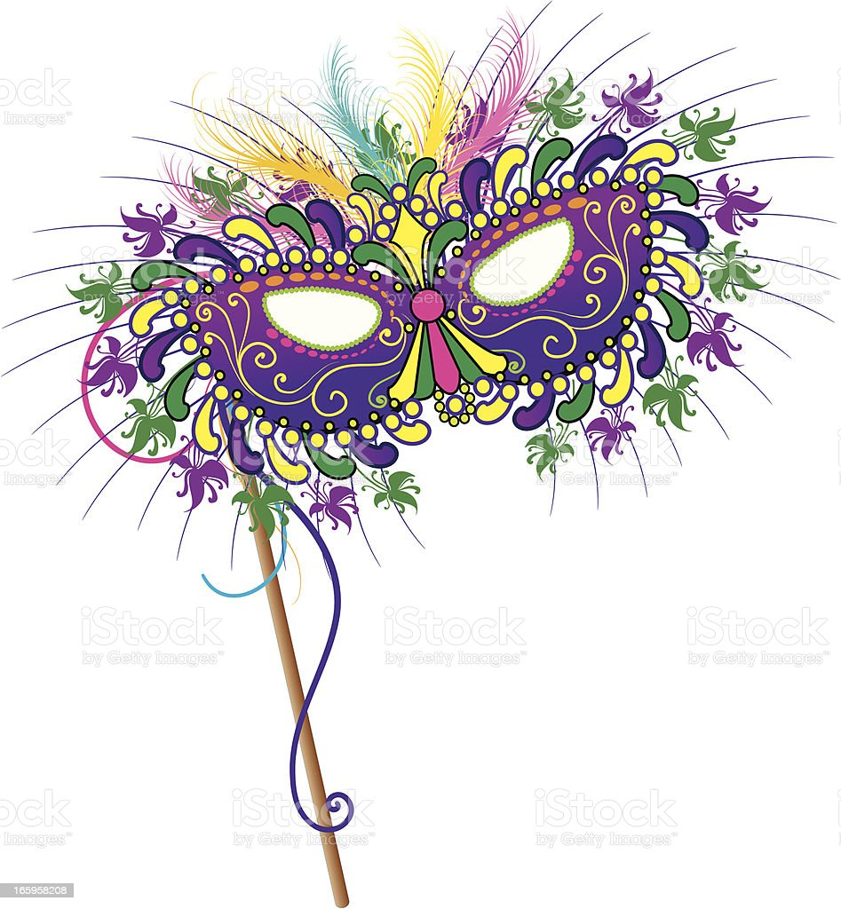 New Orleans Mardi Gras Mask royalty-free stock vector art