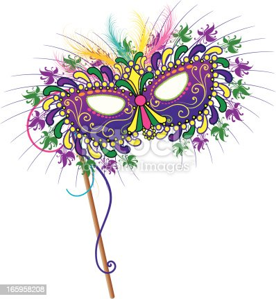 New Orleans Mardi Gras Mask Stock Vector Art More Images Of Arts Culture And Entertainment 165958208