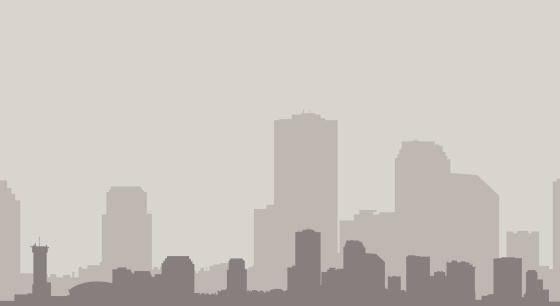 New Orleans Skyline in Gray
