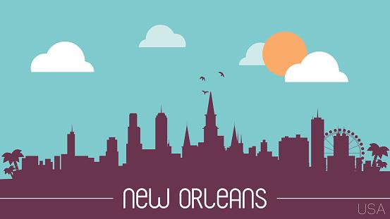 New Orleans USA skyline